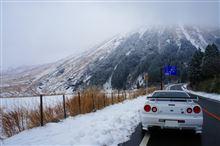 雪の阿蘇山ドライブ♪
