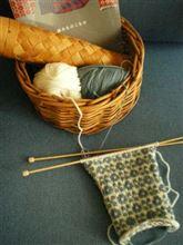 手編みのマフラー