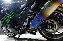 カワサキのフラッグシップ・NINJA ZX-14Rのバイクコーティング【ラディアス湘南】