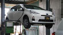 アクア燃費改良型へのガナドールマフラー装着確認が完了