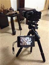 カメラ+タブレットで撮影する実験をしてみた。