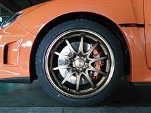 オレンジ号にスタットレスタイヤ装着 完全、完璧な冬仕様へ!