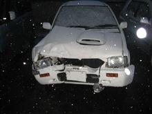 私のマーチスーパーターボが事故で再起不能に近い状態になりました。2013年12月24日の事