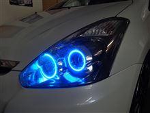 ウィッシュ イカリング・LED打ち替え・車高調取付