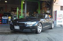 BMW E89 Z4 オレンジWOLF サスペンションキット取り付け