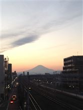 今日富士山。2014,1,12