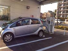 期間限定スマート充電ステーション。ENEOS 子安で充電. エネゴリくんのごみ箱がもらえる。