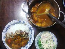 舞茸&椎茸炒めカレー。