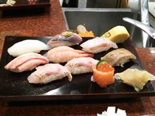 金沢に来たんだから,昼食は寿司だね。