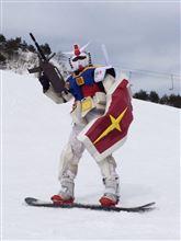 【ガンダム】スキー場に『連邦の白い悪魔』現るwwwwwwww【画像あり】