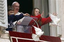 ローマ法王世界の平和を願い放ったハトが捕食される!不吉だと話題に