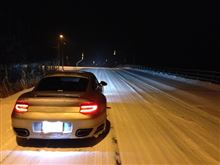 night driving in the snow