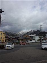 兵庫の山間で雪の華を食らう