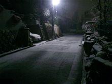 大阪南部の雪の状況。