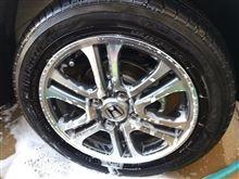 寒いけど洗車