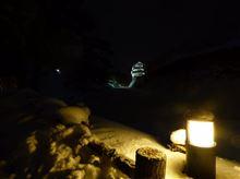 雪と光とお城と…
