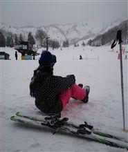 父親と娘とスキー