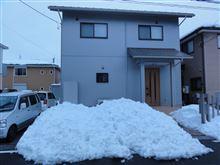 雪かき完了!