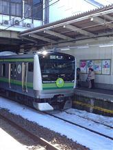 横浜線の新型車両E233系に遭遇しました。