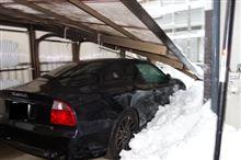 雪で潰れたでごわす