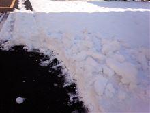 駐車場の雪かき