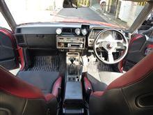 R35のシート(運転・助手)、R34のカーマットの雰囲気