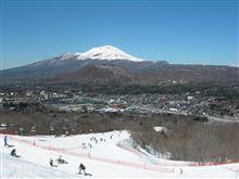 快晴 春スキー