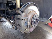 リアディスクブレーキのパッド交換
