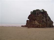 稲佐の浜 海の色がおかしい件