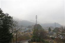 昨日から一転、雨の鬼怒川