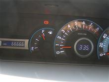 ゾロ目達成! 66666km。