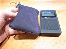 ポケットラジオの革ケース作成~^^;