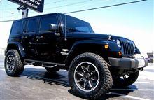 【車道楽日替セール】SUV&トラック祭り Jeep ラングラー用 ブラックライノ スライド 20インチ+ホイールコーティング『アロイドロップ』セット
