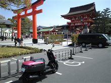 いなり、こんこん、京都でバイク修理。