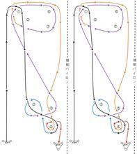 バトルジムカーナ2014Rd.1のコース図