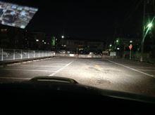 iPadで撮影したヘッドライトの点灯画像