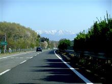 東北の春は浅く、山に残雪
