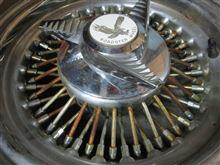 ロードスター15インチ /鉄クロームワイヤーホイールの洗浄研磨