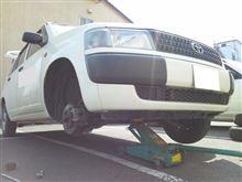 今日は、仕事相棒プロボックス号のタイヤ交換&洗車( ´艸`)ムププ