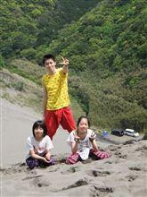 家族で砂山へ~♪