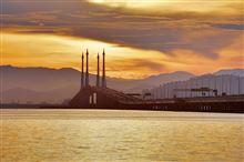 橋のある風景3 Penang Bridge
