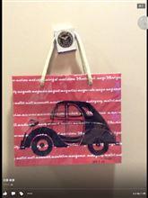 ちょっと紙袋に愛車を描きました