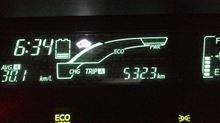 「アクア」、500キロ走破・・・・・・!  まだ、燃費計は、半分・・・・・♪