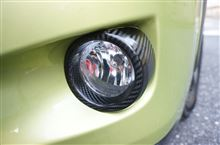 スバルXV用ドライカーボン製フォグランプカバーとリフレクターカバー完成しました