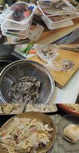 さっそく届いた、瀬戸内海の海産物。