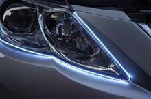 超高密度-側面発光LEDテープの取り付けテスト