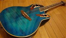 梅雨まっさかり~の雨だけど、ギターでアナ雪練習中~♪