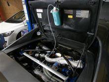 仕上げはエンジン洗浄。