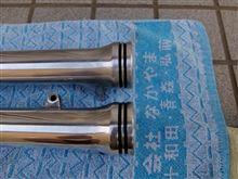 TZR125アウターチューブの装飾(汗)
