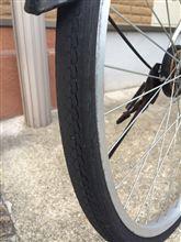 タイヤ交換。自転車の